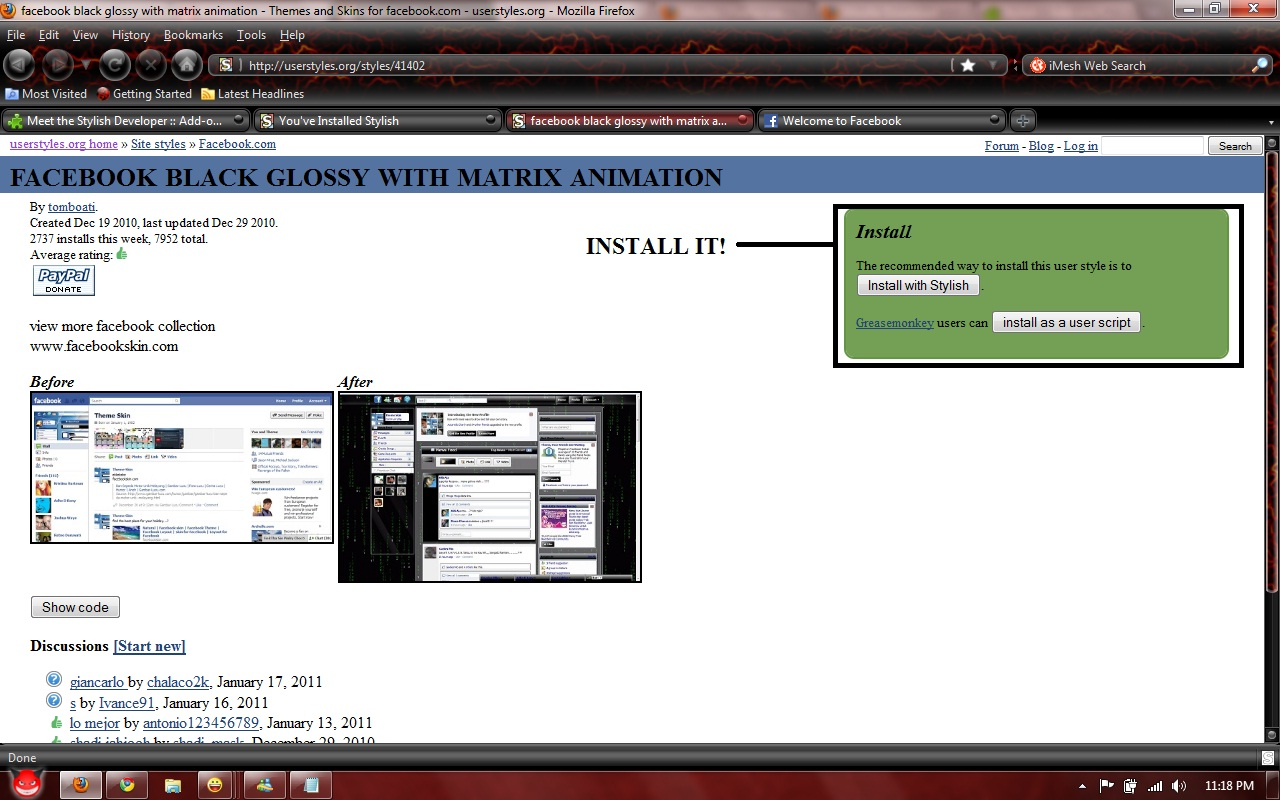 How to change your facebook background in mozilla firefox   | PAK